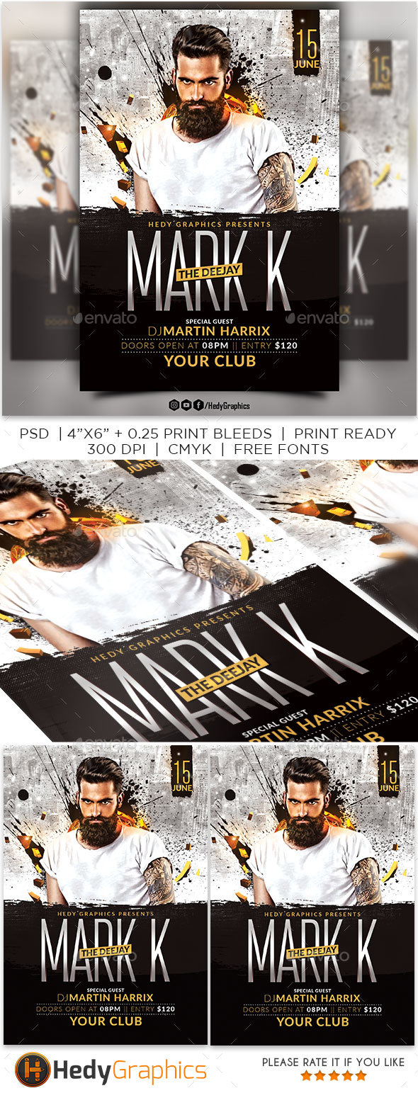 GraphicRiver Artist Flyer 21199043