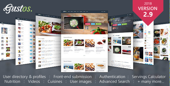 Gustos - Community-Driven Food Recipes with Front-end Submission System - Food Retail