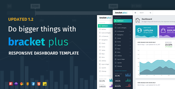Image of Bracket Plus Responsive Bootstrap 4 Admin Dashboard Template