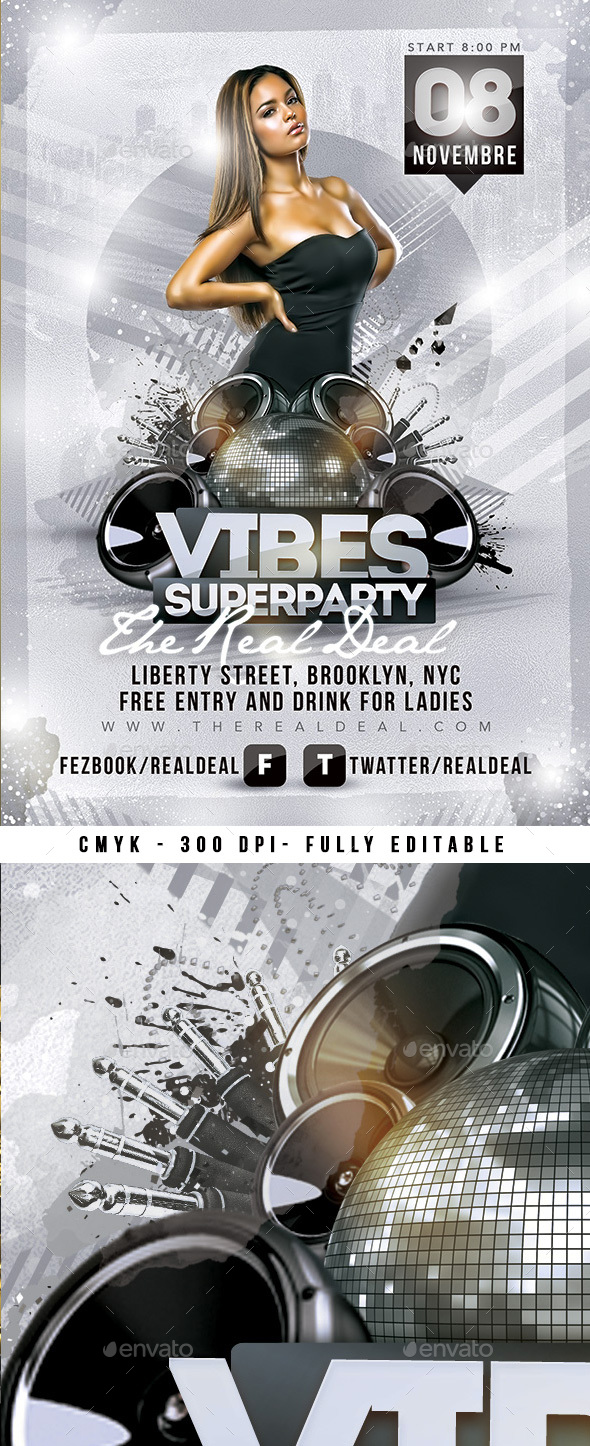GraphicRiver Vibes Superparty 21199216