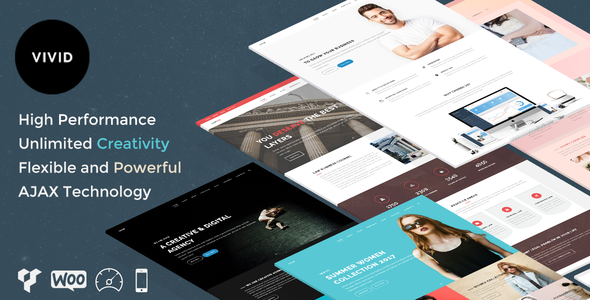 Vivid - Unique Multipurpose Theme For Creative Portfolio & Businesses - Creative WordPress