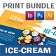 Ice-cream Restaurant Print Bundle 3