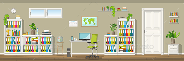 GraphicRiver Illustration of a Classic Home Office 21199257