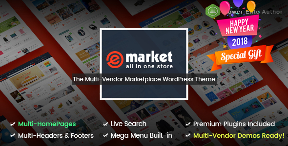 eMarket - The eCommerce & Multi-purpose MarketPlace WordPress Theme (Mobile Layouts Included)