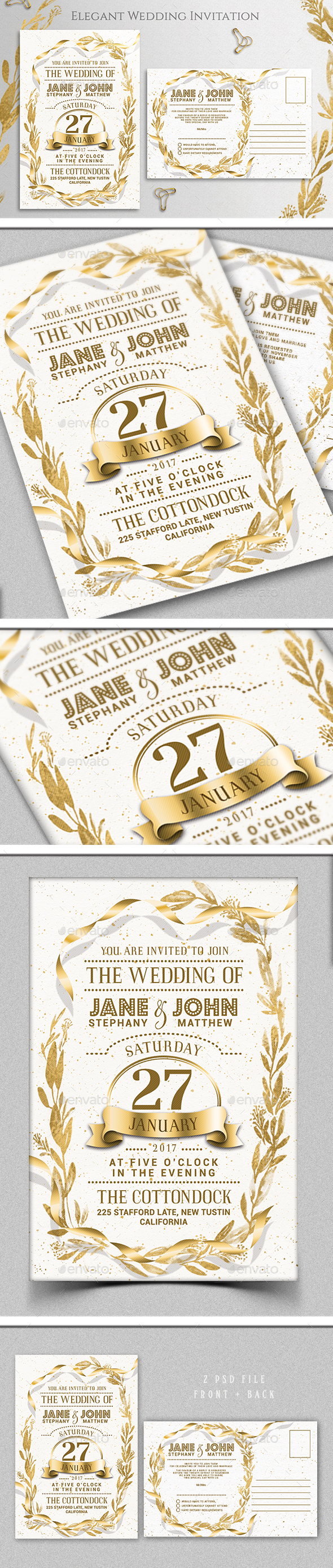 GraphicRiver wedding invitation 21199283