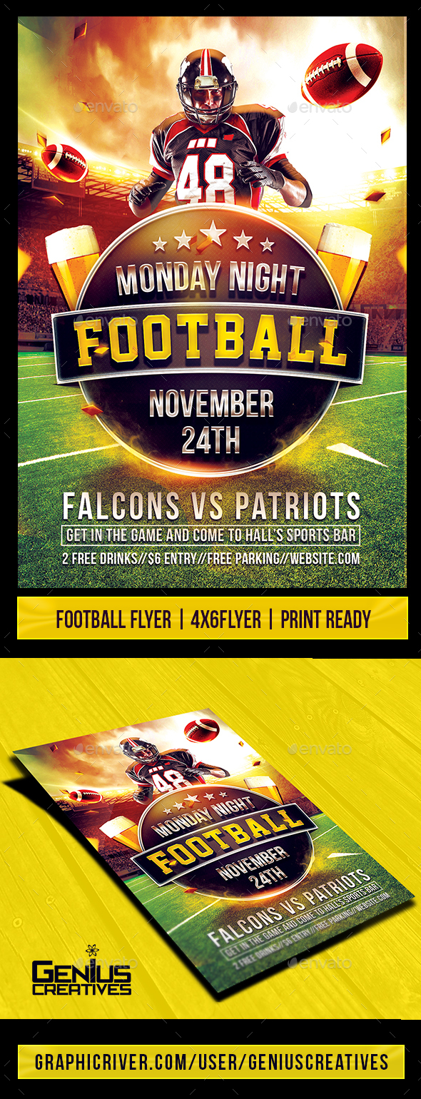 Super Football Flyer Template - Sports Events