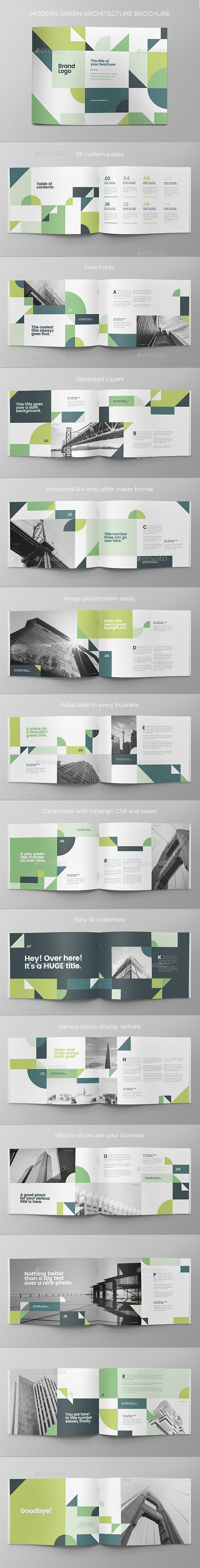 Modern Green Architecture Brochure - Brochures Print Templates