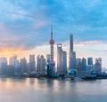 shanghai skyline with morning glow - PhotoDune Item for Sale