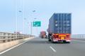 container trucks on bay bridge - PhotoDune Item for Sale
