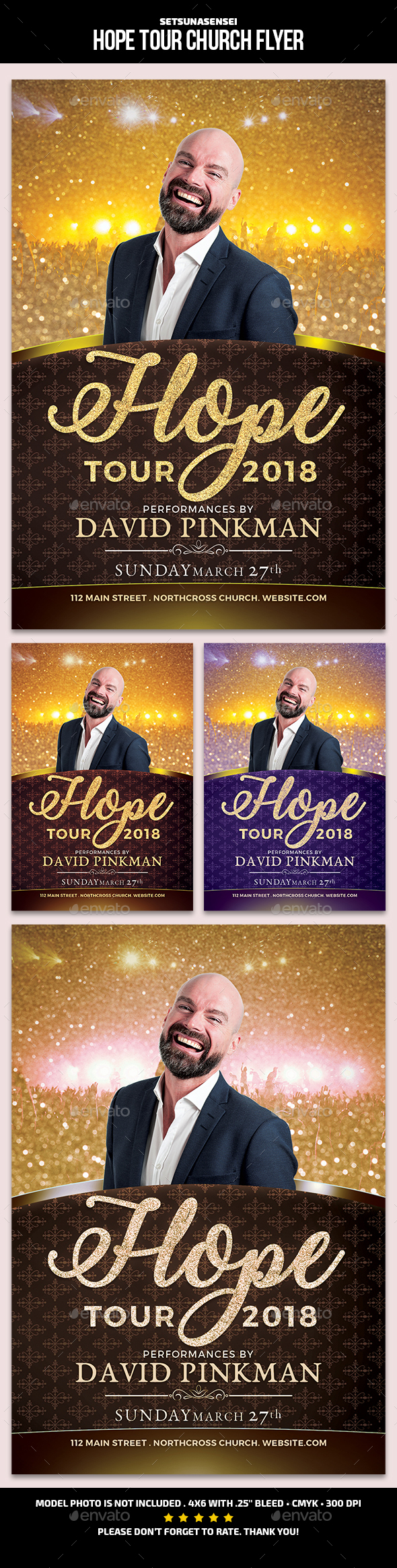 GraphicRiver Hope Tour Church Flyer 21199510