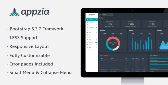Image of Appzia - Responsive Admin Dashboard