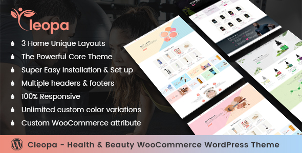 ThemeForest Cleopa Health & Beauty WooCommerce WordPress Theme 20951162