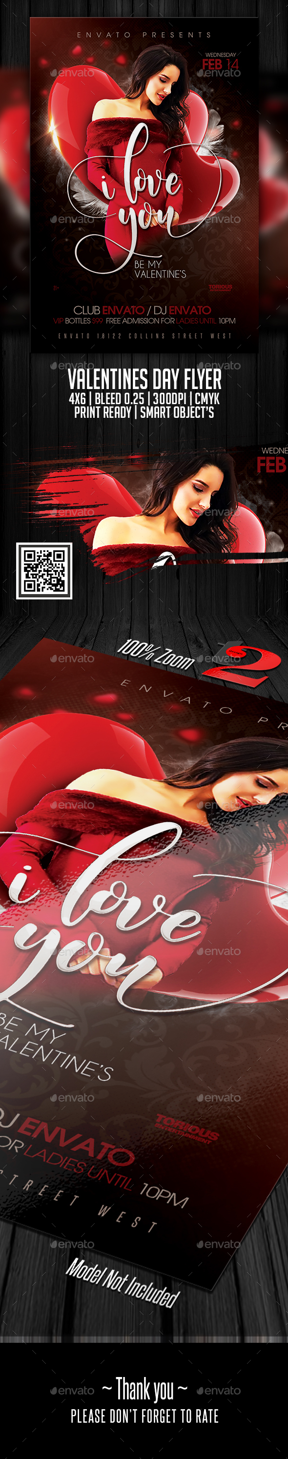 GraphicRiver Valentines Day Flyer Template 21199546