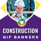 Construction Animated Gif Banner Set