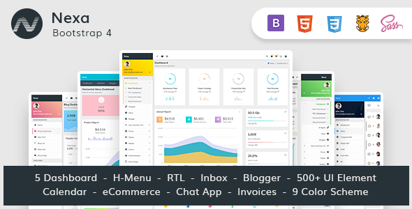 Download Nexa - Bootstrap4 Material Design Premium Admin Dashboard            nulled nulled version
