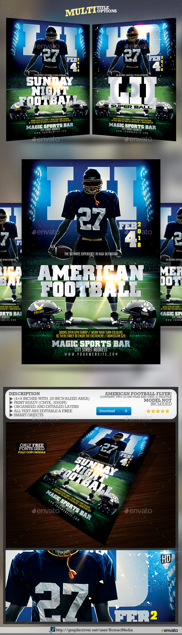 GraphicRiver American Football 21199639
