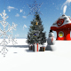 Snowman and Christmas Snowy Background - VideoHive Item for Sale