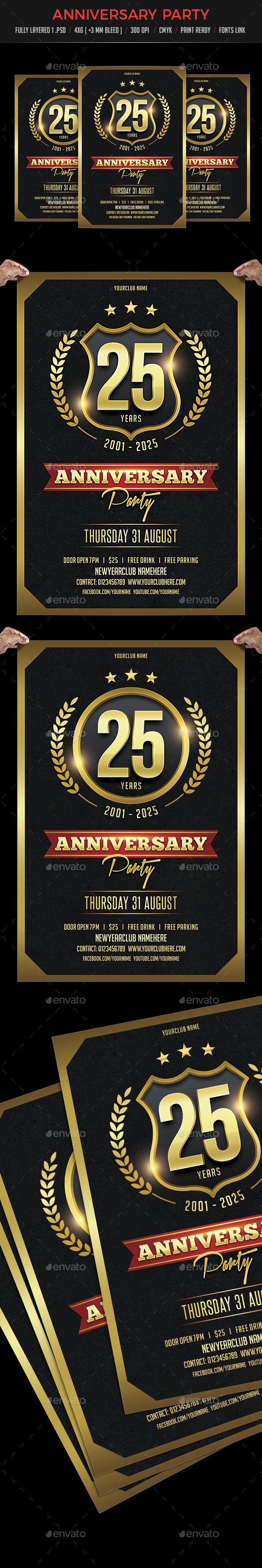 GraphicRiver Anniversary Party Flyer 21199654