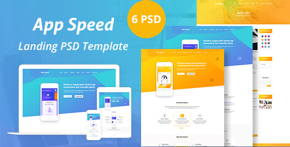 ThemeForest App Speed PSD Templated 21061327