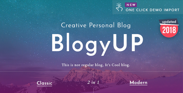 BlogyUP - Creative Personal WordPress Blog Theme