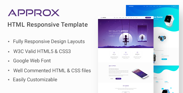 ThemeForest Approx HTML Responsive Template 20985291