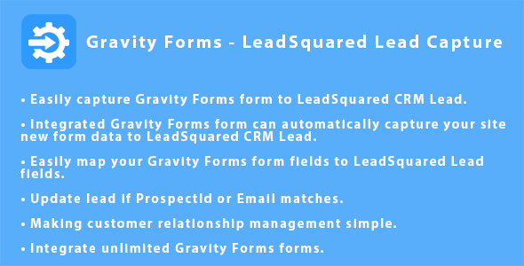Gravity Forms - LeadSquared CRM Lead Capture