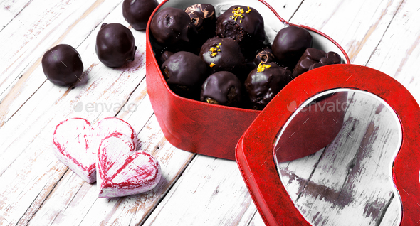 Chocolate Candies for Valentines Day - Stock Photo - Images