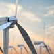 Windmill Turbines Clean Wind Energy in the Sunrise or Sunset Sky - VideoHive Item for Sale