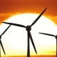 Beautiful Landscape View of Sunset Wind Turbine Field - VideoHive Item for Sale