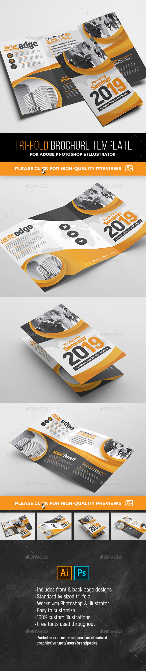 Corporate Event Tri-Fold Brochure - Corporate Brochures