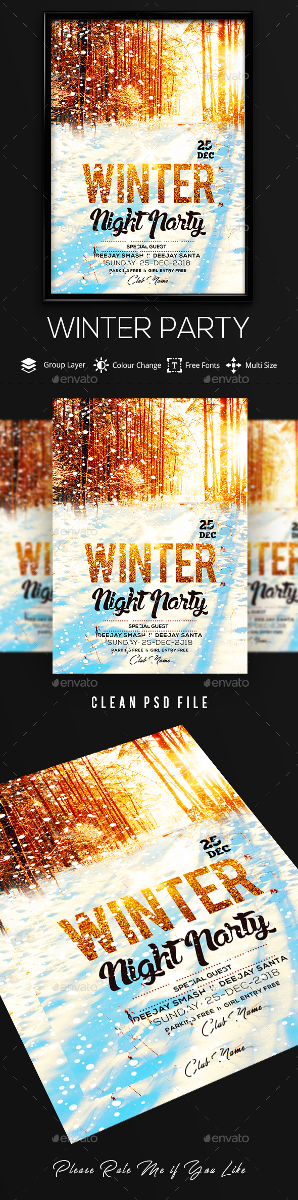 Winter Party - Flyers Print Templates
