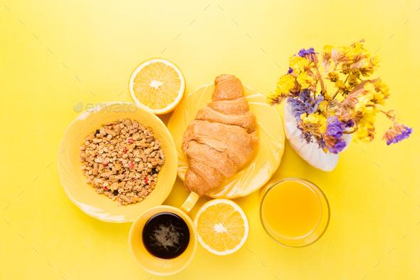 Healthy Breakfast. Various Assortment Set. - Stock Photo - Images