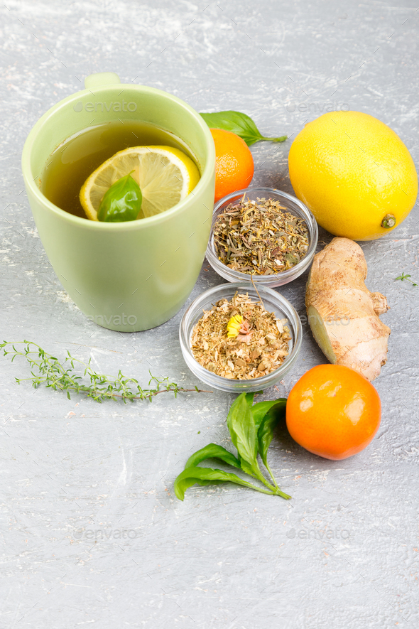 Natural medicine. Treatment for colds - Stock Photo - Images