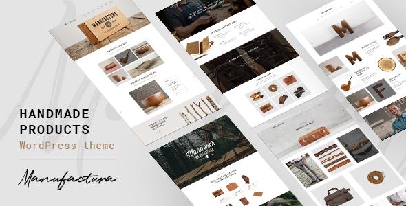 Manufactura - Handmade Crafts, Artisan, Artist WordPress Theme - Retail WordPress