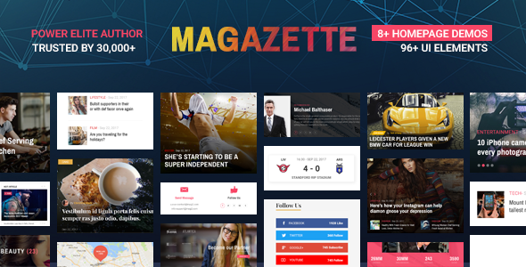 ThemeForest Magazette Magazine News Blog & Magazine WordPress Theme 21070438