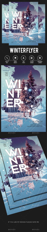 Winter Flyer - Flyers Print Templates