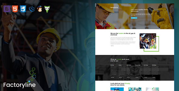 Factoryline - Factory & Industrial Business HTML Template - Business Corporate