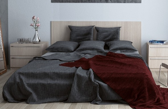 Realistic Bed 3d Model - 3DOcean Item for Sale