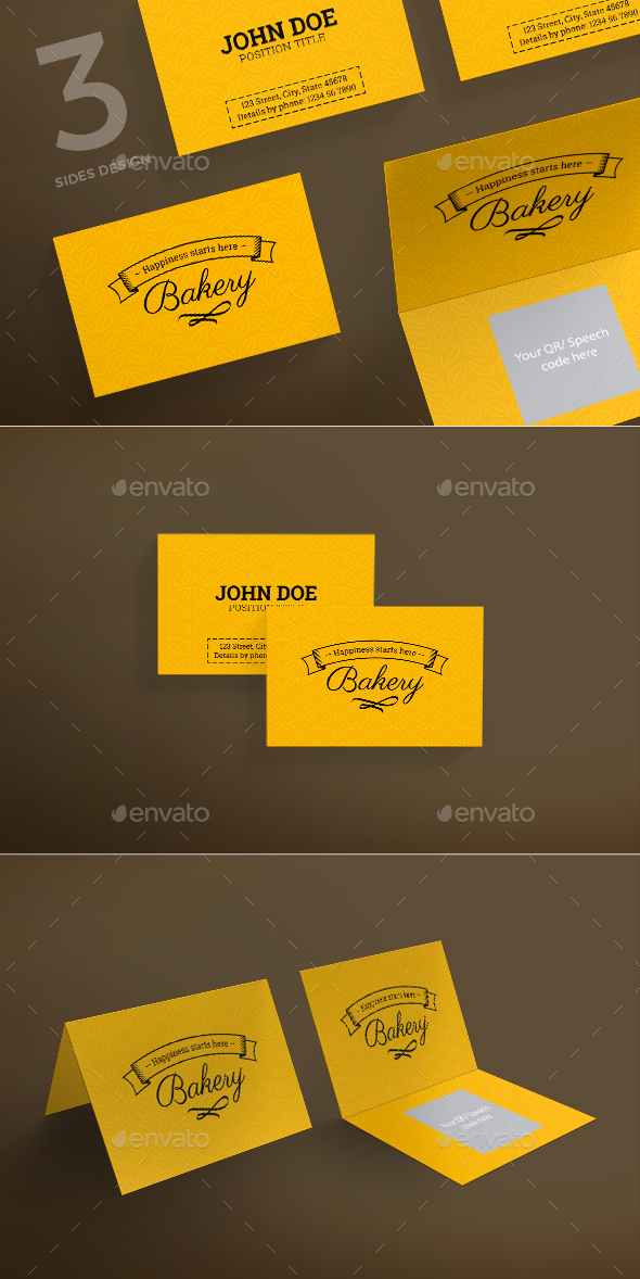 Bakery Business Card by ambergraphics | GraphicRiver