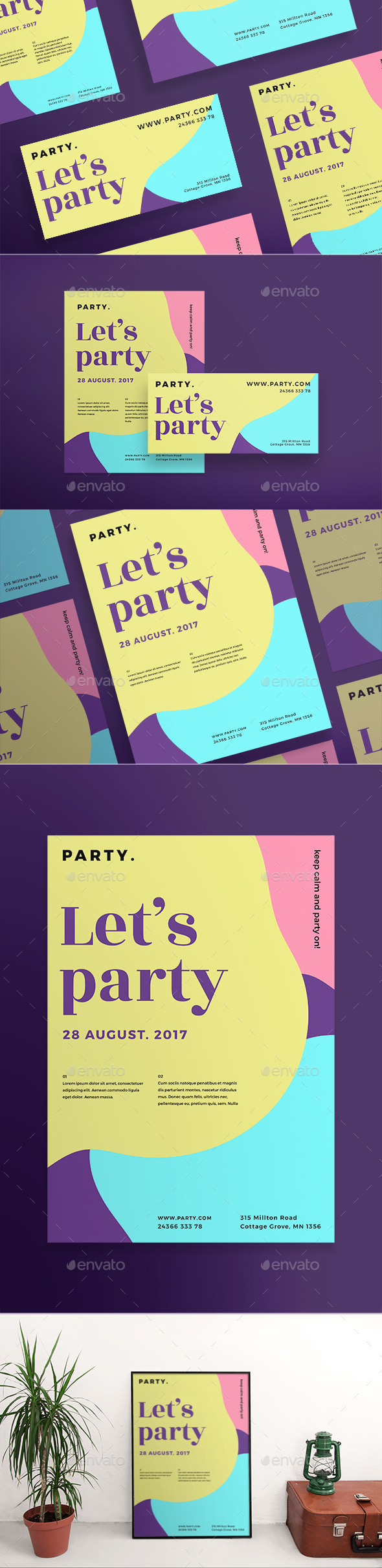 Color Party Flyers - Clubs & Parties Events