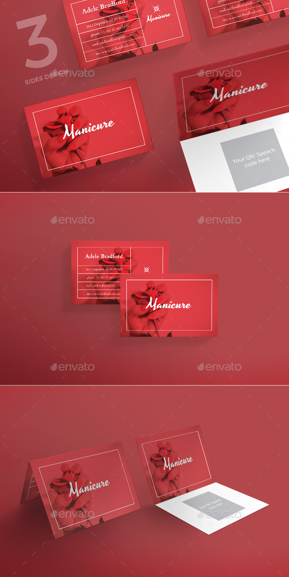 Manicure Business Card by ambergraphics | GraphicRiver