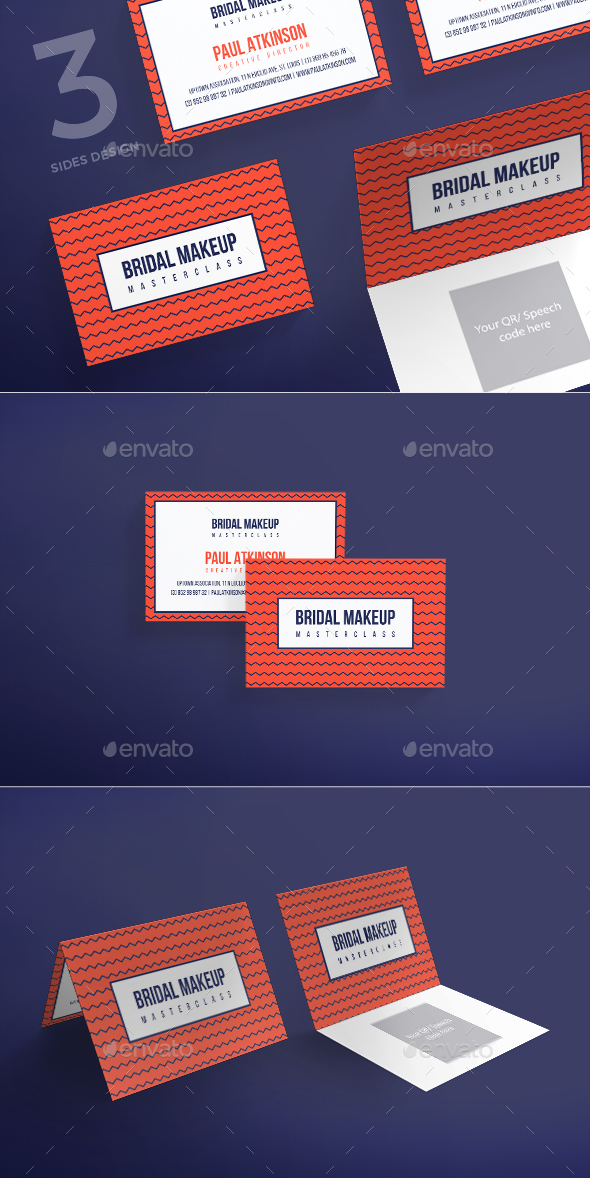 Bridal Makeup Business Card - Business Cards Print Templates