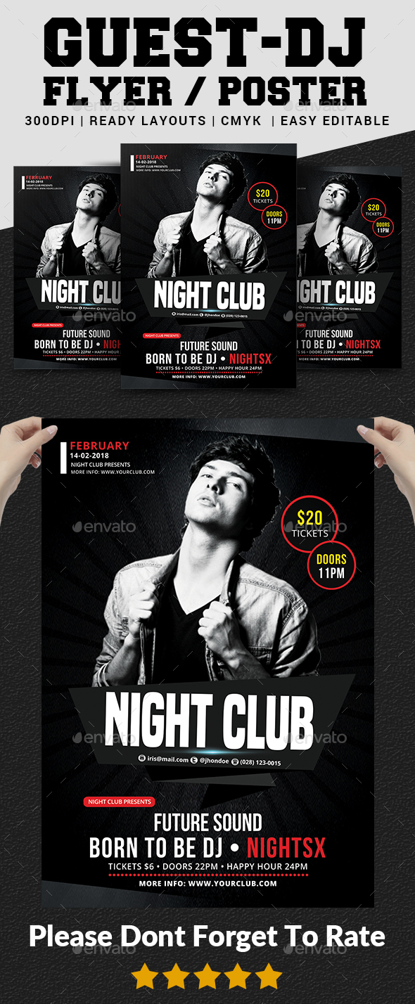 Guest Dj Flyer - Clubs & Parties Events