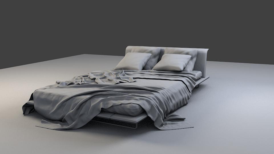 Realistic Bed 3d Model By Sadaj72 3docean