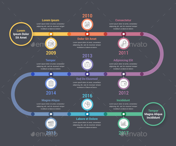 GraphicRiver Timeline Infographics 21200959