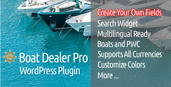 Boat Dealer Pro WordPress Plugin - CodeCanyon Item for Sale