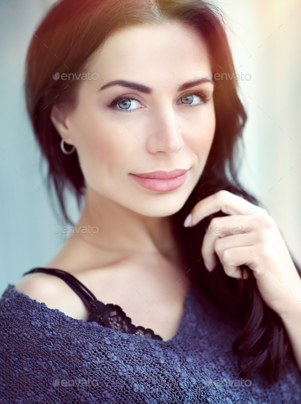 Beautiful woman portrait - Stock Photo - Images
