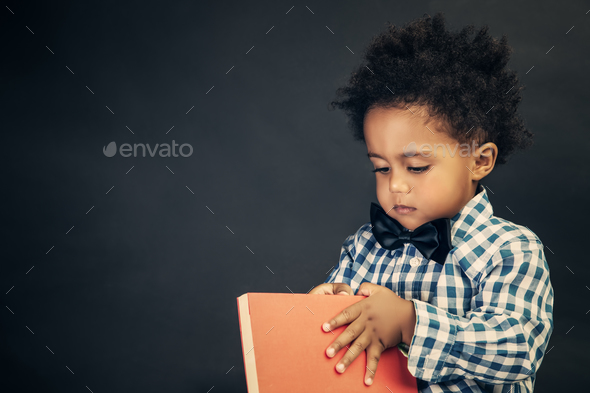 Little school boy - Stock Photo - Images