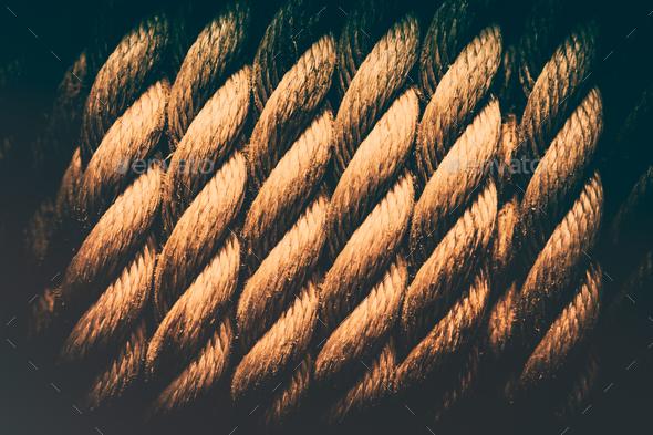 Grunge rope background - Stock Photo - Images