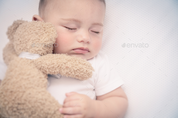 Cute little baby sleeping - Stock Photo - Images